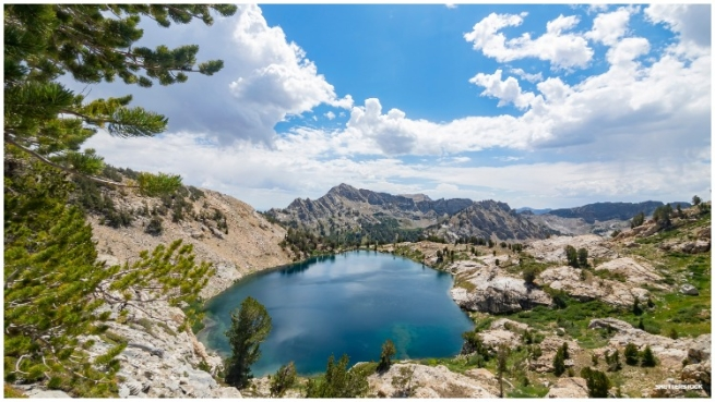 Liberty Lake sits at 10,000 feet in the Ruby Mountains for Nevada.