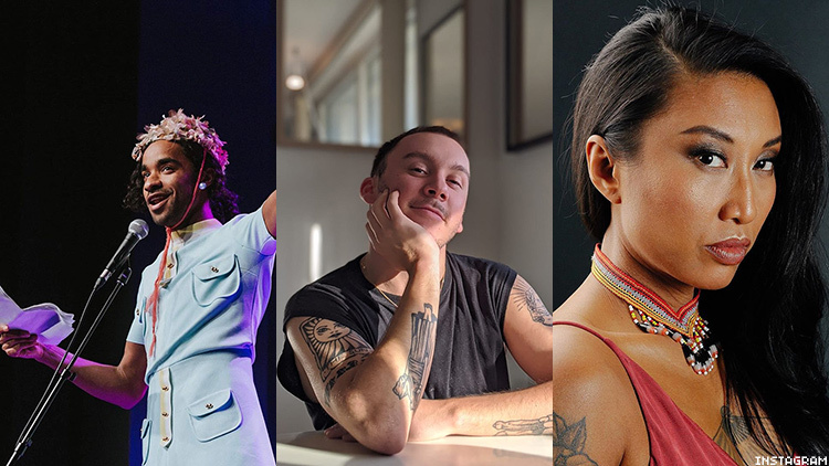 Three of the queer performers from Queer There and Everywhere