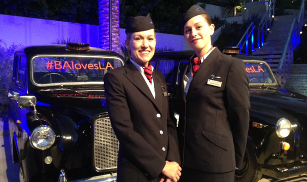 PICTURES: British Airways Glam A380 L.A. Launch Party