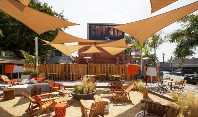West Hollywood Cafe Turns Parking Lot Into Sandy Paradise
