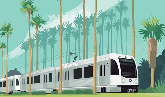VIDEO: Odd Performance Christens New LAX Rail Line