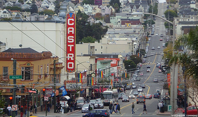 A beautiful shot of The Castro, one of the first gay neighborhoods in the United States.