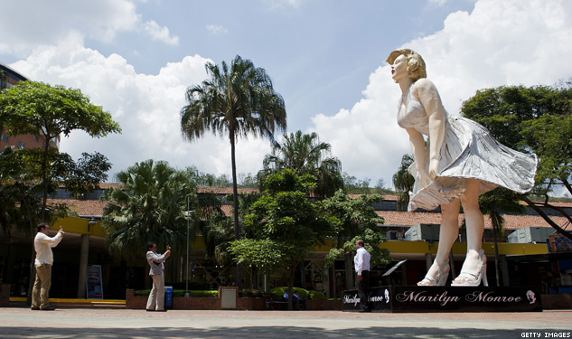 Marilyn Leaving Palm Springs… For Jersey