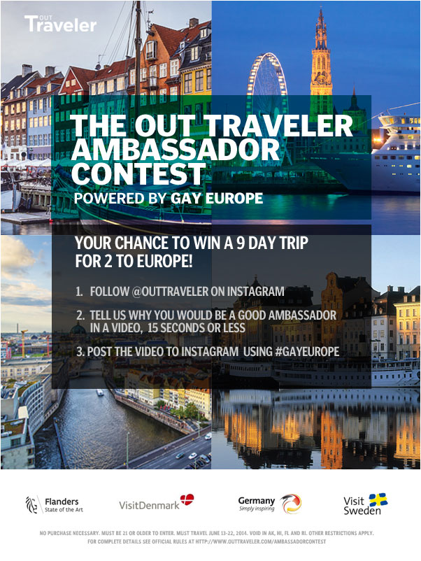Out Traveler and Gay Europe, Inside & Out Offering Up Blockbuster Euro Contest
