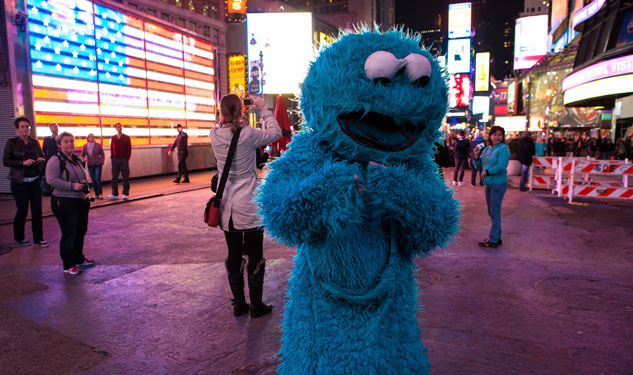 Cookie Monster Creates Chaos in NYC