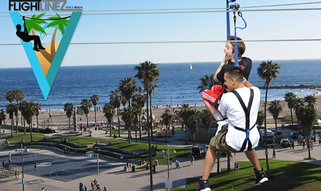 Venice Beach's Latest Attraction: Ziplining