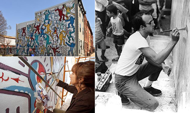 VIDEO: Philadelphia Restores '87 Mural from Keith Haring