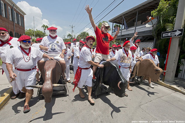 PHOTOS: Key West's Ridiculous, Hilarious Running of the Bulls