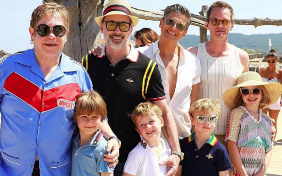 Elton John and Neil Patrick Harris on vacation in France