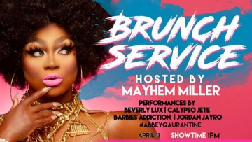 Poster for the Abbey's Drag Show Brunch