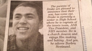 Houston Mom Runs Newspaper Ad Celebrating Son's Coming Out