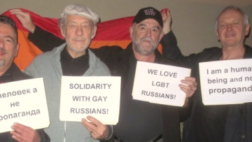 PHOTO: Ian McKellen Stands Up for Russia's Gays