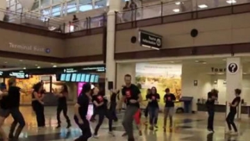 Denver Airport: The Perfect Place for Flash Mob Wedding Proposal