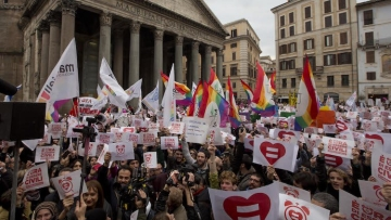 Breaking: Italy's Senate Approves Same-Sex Civil Unions