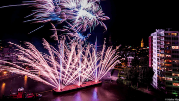Groningen, Netherlands Every year the city of Groningen lights a firework to celebrate Bommen Berend (a traditional holiday). We always celebrate with friends who live so nearby that you feel like you're part of the fireworks.